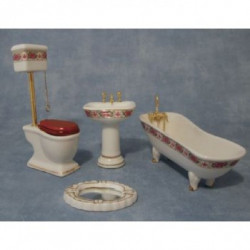 Baño Porcelana Rosa
