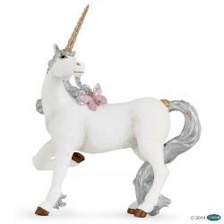 Unicornio Plateado Figura