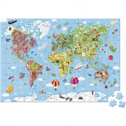 Puzzle Gigante Atlas Mundial