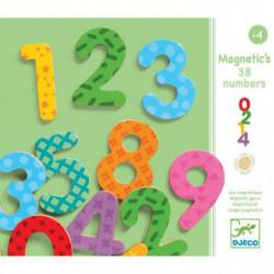 Números Magnéticos Madera